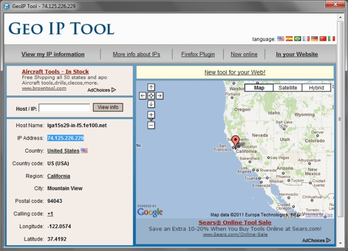 GeoIP lookup in TCPEye
