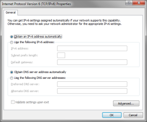 Access IPv6 settings in Windows