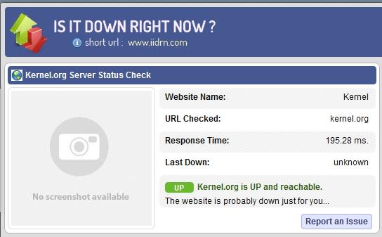 isitdownrightnow screenshot
