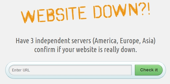website-down screenshot