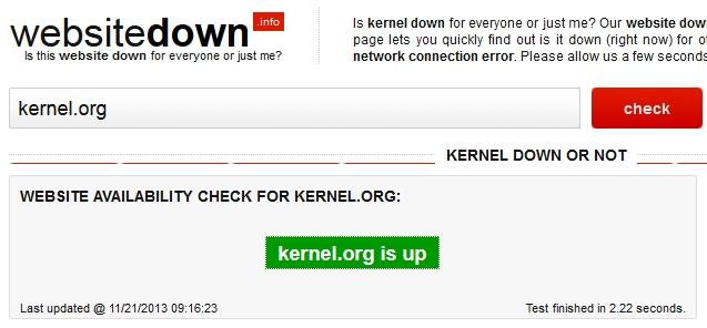 Websitedown screenshot