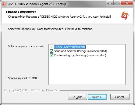 OSSEC Windows Agent installation