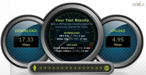 Bandwidth speed test 1 with Vypr